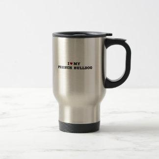 I Heart My French Bulldog Travel Mug