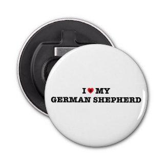 I Heart My German Shepherd Bottle Opener