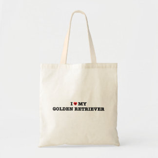 I Heart My Golden Retriever Tote Bag