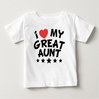 I Heart My Great Aunt Baby T-Shirt