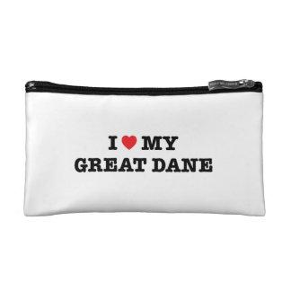 I Heart My Great Dane Cosmetic Bag