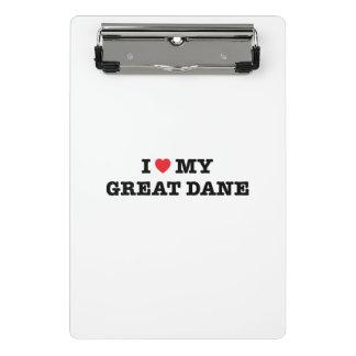 I Heart My Great Dane Mini Clipboard