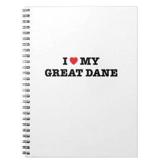 I Heart My Great Dane Notebook