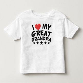 I Heart My Great Grandpa Toddler T-Shirt