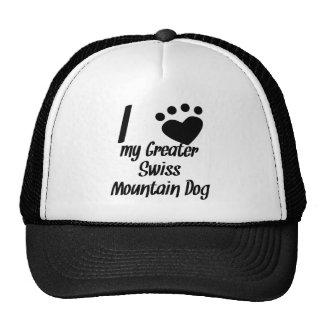 I Heart My Greater Swiss Mountain Dog Hats