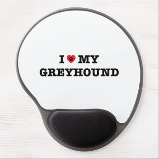 I Heart My Greyhound Gel Mouse Pad