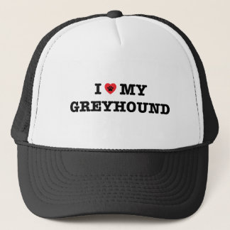 I Heart My Greyhound Trucker Hat