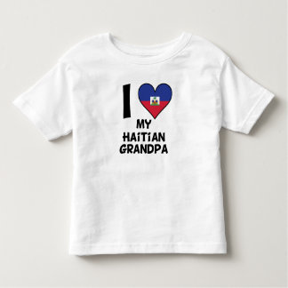 I Heart My Haitian Grandpa Toddler T-Shirt