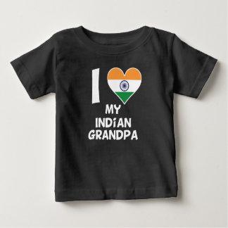 I Heart My Indian Grandpa Baby T-Shirt