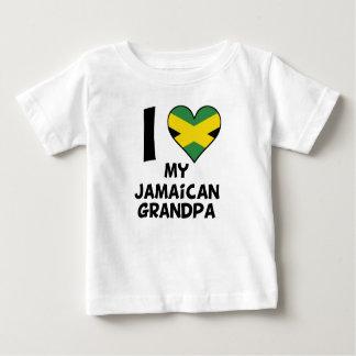 I Heart My Jamaican Grandpa Baby T-Shirt