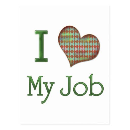 I Heart My Job Postcards