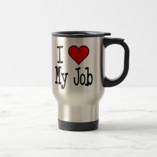 I Heart My Job Stainless Steel Travel Mug