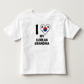 I Heart My Korean Grandma Toddler T-Shirt