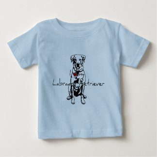 "I ""heart"" my Labrador Retriever words with graphic Baby T-Shirt"