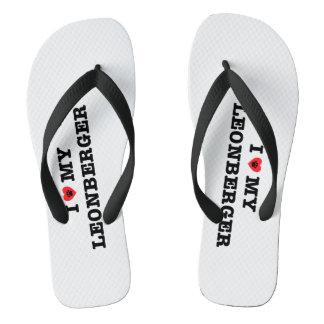I Heart My Leonberger Flip Flops