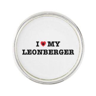 I Heart My Leonberger Lapel Pin