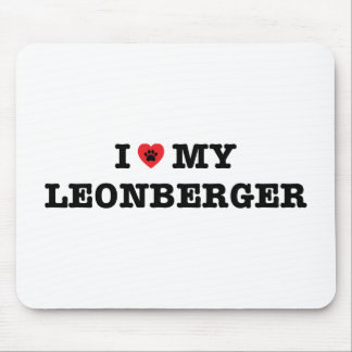 I Heart My Leonberger Mouse Pad