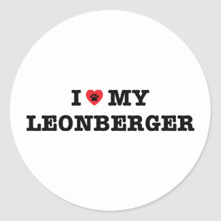 I Heart My Leonberger Stickers
