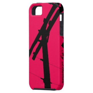 I (Heart) My Lineman iPhone 5 Case-Hot Pink iPhone 5 Cover