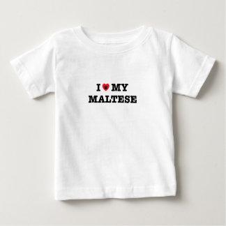 I Heart My Maltese Baby T-Shirt
