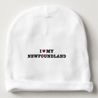 I Heart My Newfoundland Baby Beanie