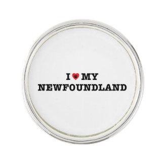 I Heart My Newfoundland Lapel Pin