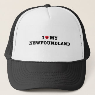 I Heart My Newfoundland Trucker Hat
