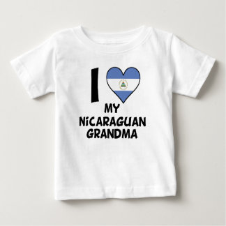 I Heart My Nicaraguan Grandma Baby T-Shirt