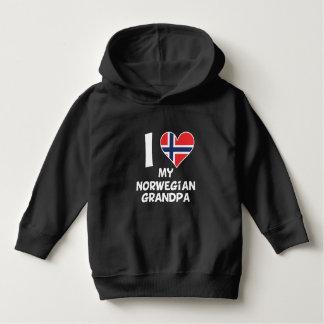I Heart My Norwegian Grandpa Hoodie