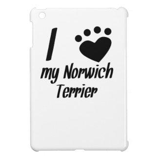 I Heart My Norwich Terrier iPad Mini Cover