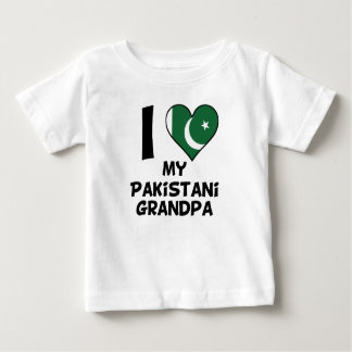 I Heart My Pakistani Grandpa Baby T-Shirt