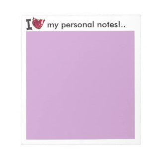 i heart my personal notes customizable