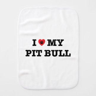 I Heart My Pit Bull Burp Cloth
