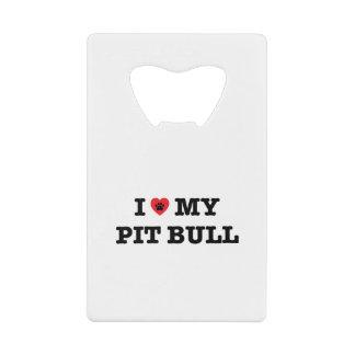 I Heart My Pit Bull Credit Card Bottle Opener