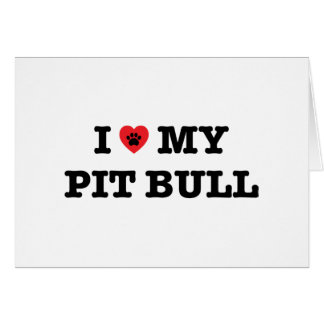 I Heart My Pit Bull Greeting Card