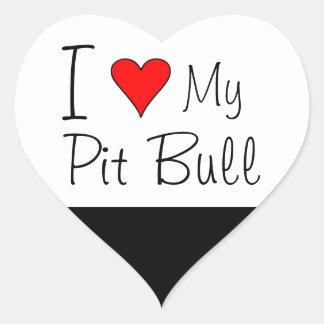 I heart my pit bull heart sticker