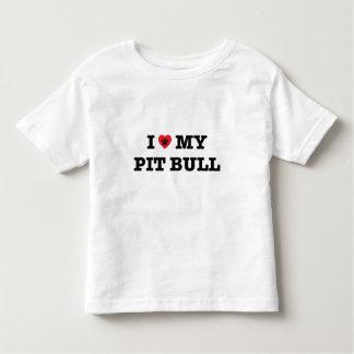 I Heart My Pit Bull Toddler T-Shirt