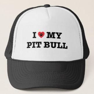 I Heart My Pit Bull Trucker Hat
