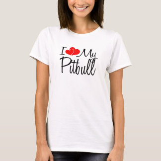 I Heart My Pitbull Dog T-Shirt