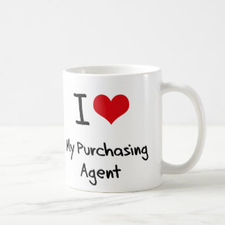 I heart My Purchasing Agent Coffee Mugs