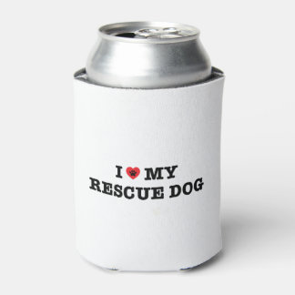 I Heart My Rescue Dog Can Cooler