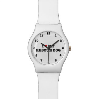 I Heart My Rescue Dog Numbered Wristwatch