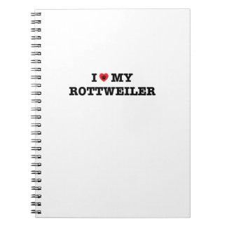 I Heart My Rottweiler Spiral Notebook