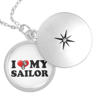 I (Heart) My Sailor Round Locket Necklace