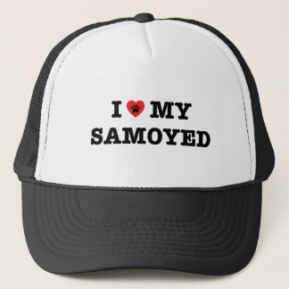 I Heart My Samoyed Trucker Hat