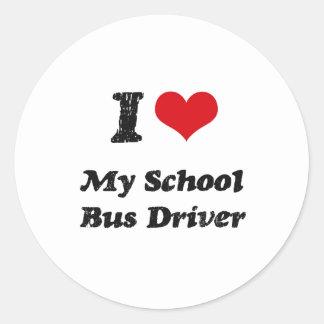 I heart My School Bus Driver Sticker