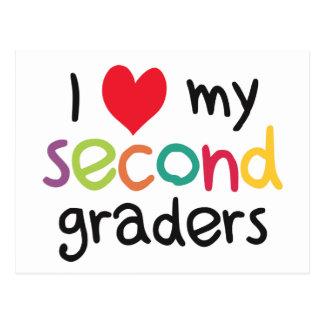 I Heart My Second Graders Teacher Love Postcard