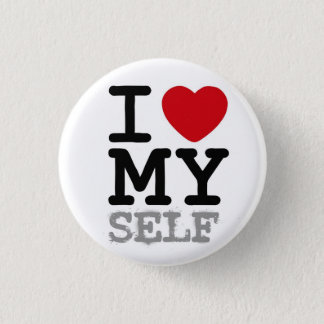 I heart my self 3 cm round badge