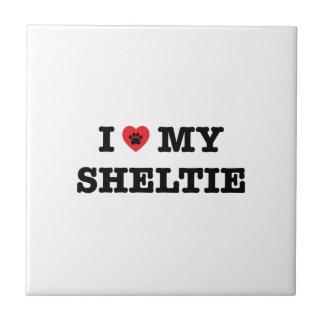 I Heart My Sheltie Ceramic Tile