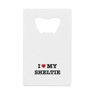 I Heart My Sheltie Credit Card Bottle Opener